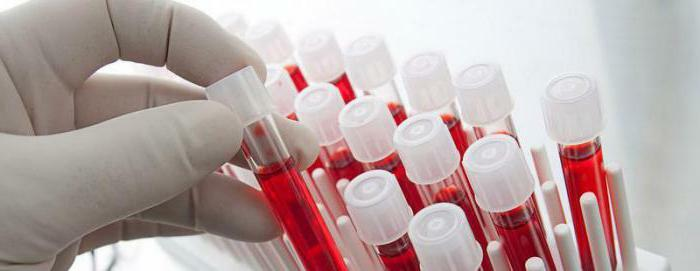 hct in the blood test lowered