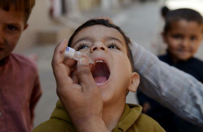 Polio is contagious and transmitted