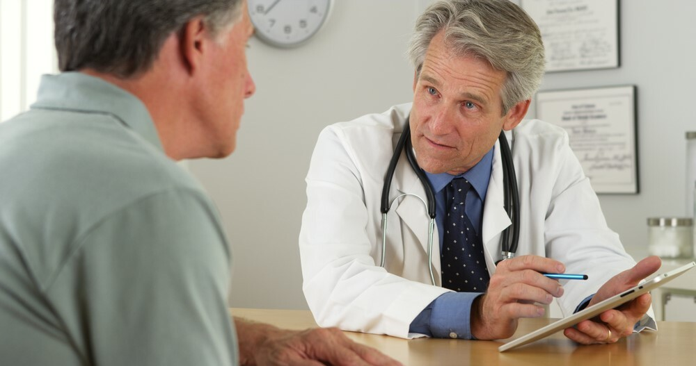 Visiting a doctor for symptoms of bronchitis