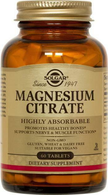 citrate magnesium solgar instructions for use